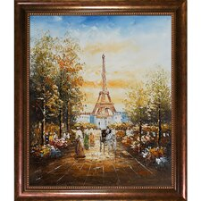 Gardens Near the Eiffel by Various Artists Framed Painting
