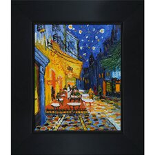 Cafe Terrace at Night by Vincent Van Framed Painting