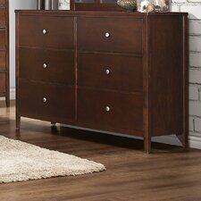 Ketcham 6 Drawer Double Dresser