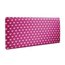 Pink Hearts Single Panel Headboard