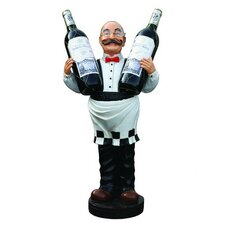 Nostalgia Wine Waiter Statue