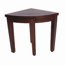 Oasis Teak Corner Shower Seat Stool Shower Seat