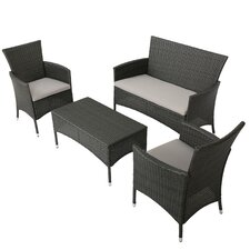 Laverock 4 Piece Deep Seating Group with Cushions