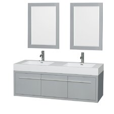 Axa 60 Double Bathroom Vanity Set with Mirror by Wyndham Collection