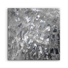 Gerahmtes Leinwandbild Abstrakt 804 Enigma, Grafikdruck