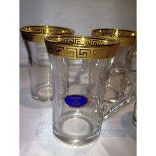 Rosa Greek Key Tea Glass (Set of 6)
