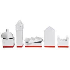Desktructure the City 5 Piece Porcelain Desktop Organizer Set