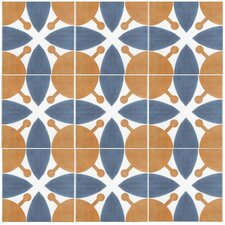 """Revive 7.75"""" x 7.75"""" Ceramic Floor and Wall Tile in Leaf"""