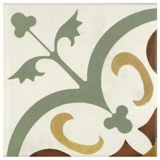 """Revive 7.75"""" x 7.75"""" Ceramic Floor and Wall Tile in Memory"""