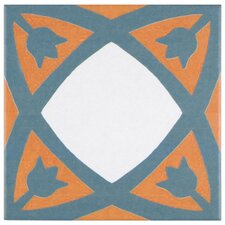 """Revive 7.75"""" x 7.75"""" Ceramic Floor and Wall Tile in Tulip"""