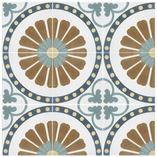 """Revive 7.75"""" x 7.75"""" Ceramic Floor and Wall Tile in Ring"""