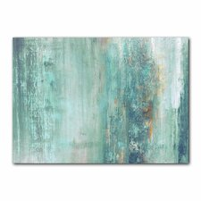'Abstract Spa' Framed Graphic Art Print on Canvas Blue