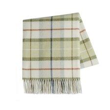 Italian Plaid Lambswool Throw Blanket