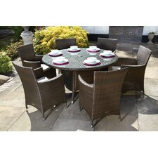Cannes 6 Seater Dining Set with Cushions