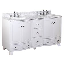 "Palazzo 60"" Double Bathroom Vanity Set"