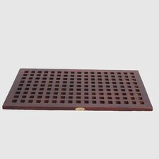 Espalier Large Grate Teak Spa Shower and Floor Mat