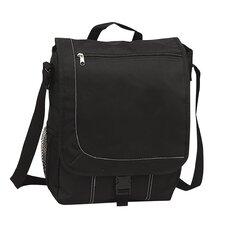 """11"""" Messenger Bag with 1 Zippered Pocket & 1 Mesh Pocket"""