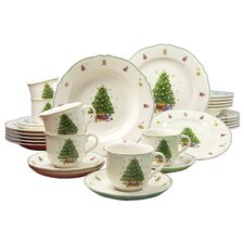 Tannenbaum Premium 30 Piece Dinnerware Set, Service for 6