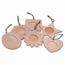 Wood Frame Ornaments, 36 Frames, 1 Set