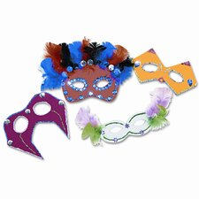 Foam Mask Kit, 24-Pack, Assorted Colors