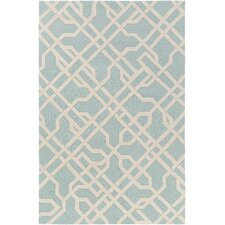 Marigold Catherine Hand-Crafted Mint Area Rug