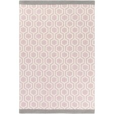Hilda Eva Hand-Crafted Light Pink/Gray Area Rug