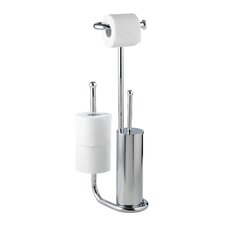 Universalo Free Standing Toilet Roll and Brush Holder