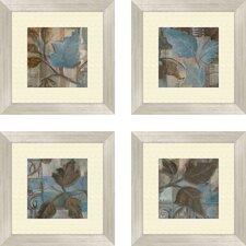 Botanical Perfect Match 4 Piece Framed Painting Print Set (Set of 4)