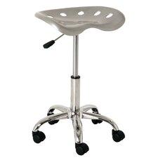 Height-adjustable office stool