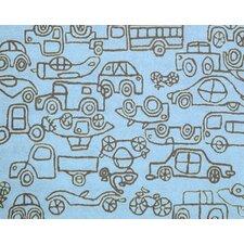 Kids Transport Ozone Blue/Sable Area Rug