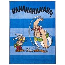 Handgewebter  Teppich Printus in Blau