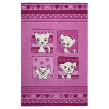 Handgetufteter Teppich Smart Kids in Pink