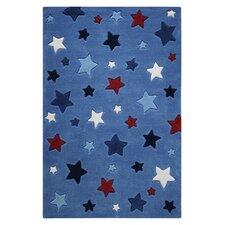 Handgetufteter Teppich Smart Kids in Blau