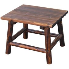 Char-Log Square End Table by Leigh Country