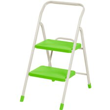 2-Step Folding Step Stool with 225 lb. Load Capacity