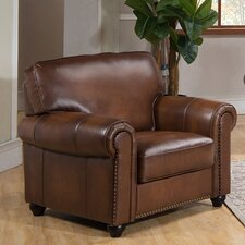 Aspen Leather Club Chair by Amax