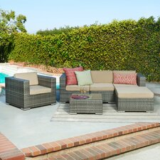 Azaleh 4 Piece Sectional Seating Group with Cushion by Mercury Row®