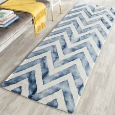 Crux Hand-Tufted Ivory & Navy Area Rug