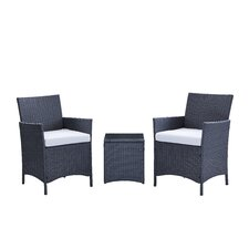 Minden 3 Piece Lounge Seating Group with Cushion by Varick Gallery®