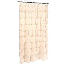 Atia Voile Ruffled Tier Shower Curtain