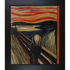 'The Scream Canvas' Art by Edvard Munch Modern in New Age Black Frame