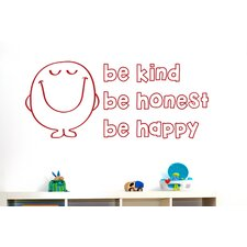 Be Kind Be Nice Be Happy Wall Sticker