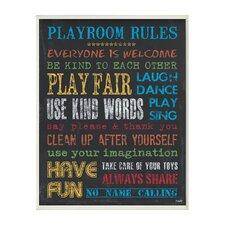 The Kids Room Chalkboard Rainbow Playroom Rules Wall Plaque