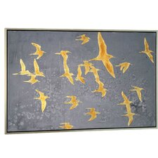 Silhouettes in Flight IV' Framed Painting