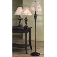 Roosevelt Athens 3 Piece Table and Floor Lamp Set