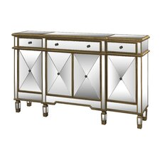 Jaffe 3 Drawer Mirrored Console Table by Mercer41™