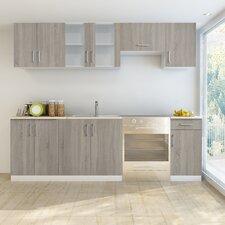 7 Piece Kitchen Cabinet Set