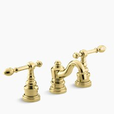 Iv Georges Brass Widespread Bathroom Sink Faucet with Lever Handles by Kohler