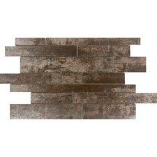 "Alchemy Liner 12"" x 19"" Porcelain Tile in Copper Linear matte"