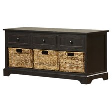 McKinley Wood Storage Entryway Bench